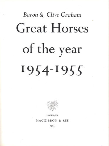 Great Horses of the Year 1954-1955
